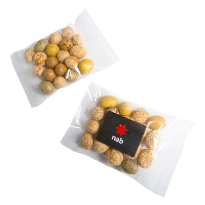 CC050D50 Peanut Crackers Filled Logo Lolly Bags - 50g