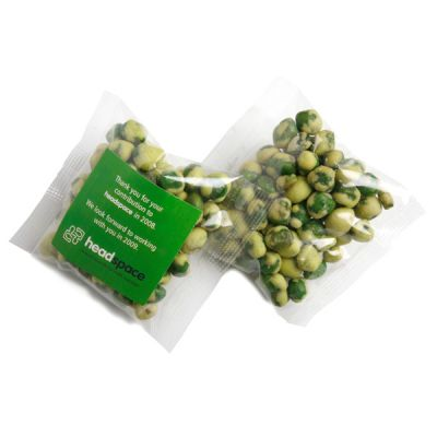 CC050Q2 Wasabi Peas Filled Promo Lolly Bags - 50g