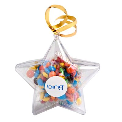 CC054B1 M&M Filled Branded Stars With Sticker - 50g
