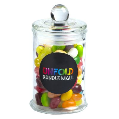 CC067F Jelly Belly Beans Filled Glass Corporate Jars - 115g