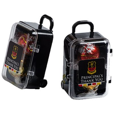 CC070F Lindt Lindor Ball Filled Branded Mini Suitcases x 2