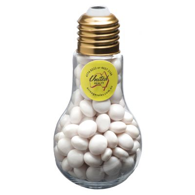 CC074C1 Chewy Mint Filled Branded Light Bulbs - 100g
