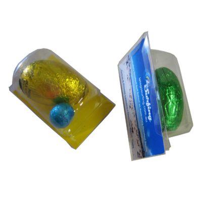 CCE013B Biz Card Treats Promotional Business Easter Eggs - 1 x 17g & 1 Mini