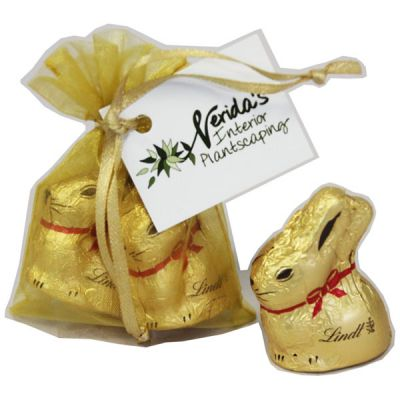 CCE026 Gold Lindt Bunny Branded Easter Eggs - 2 x 10g