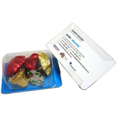 CCX004 Biz Card Treats With Christmas Chocolates - 45g
