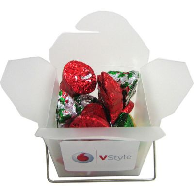 CCX014 Christmas Chocolate Filled Frosted Custom Noodle Boxes - 85g
