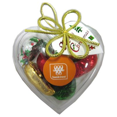 CCX024 Chocolate Heart Filled Branded Hearts - 65g