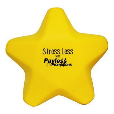 S38 Star Yellow Promotional Shapes Stress Balls