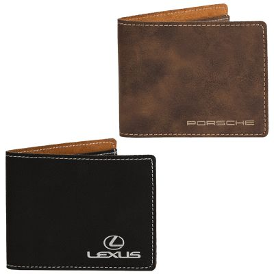 EX103 Slim Fold Logo Travel Wallets With Six Card Slots