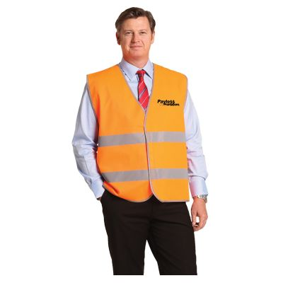 SW44 Lightweight Velcro Hi Visibility Vests With Reflective Tape