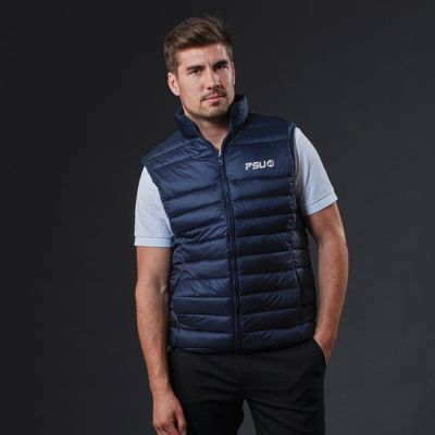 J808 Lifestyle Puffer Embroidered Fashion Vests - On Special