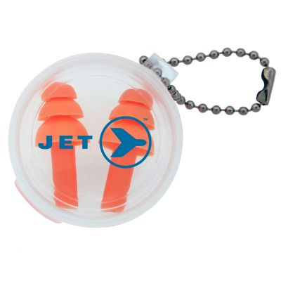 K228 Silicone Embroidered Travel Ear Plugs In Carrying Case