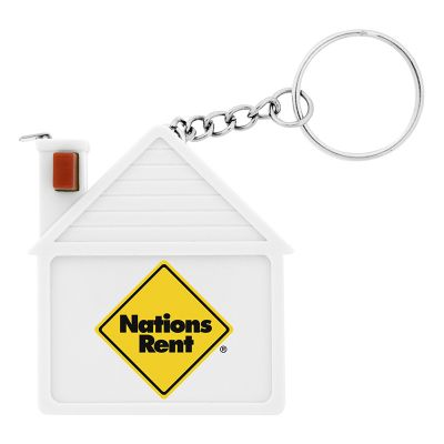 K157 House Shaped Printed Tape Measures With Keychain
