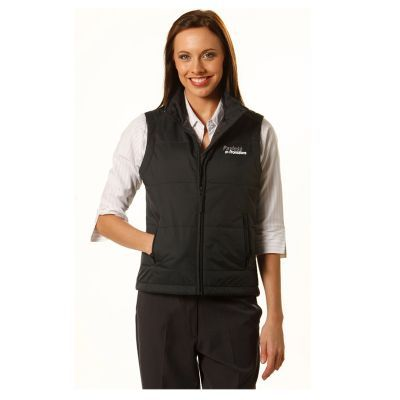 JK30 Ladies Ripstop Padded Logo Casual Vests