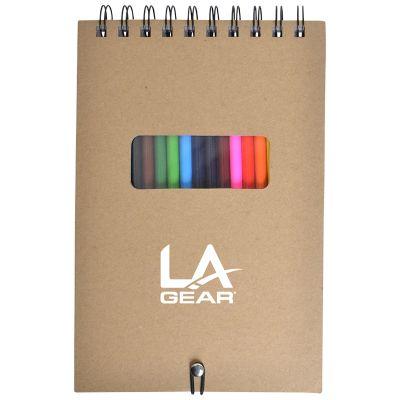 NP148 Quick Flip Illustrator With 12 Coloured Pencils