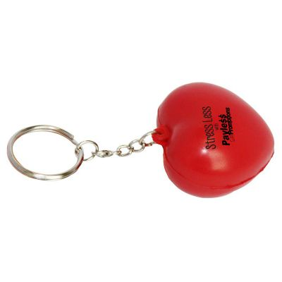 S35 Heart Red Printed Keyring Stress Balls