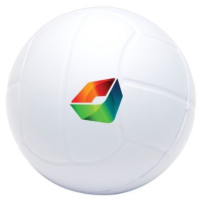 T763 Volley Ball Shaped Printed Sports Stress Balls