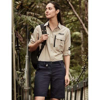 ZS704 Ladies Rugged Cooling Vented Logo Workwear Shorts