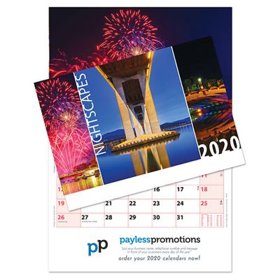 AJ13 13 Pages Logo Wall Calendars - Nightscapes