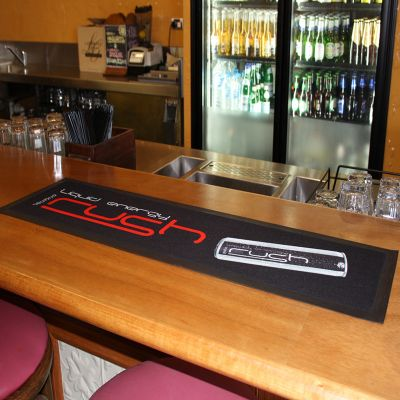 BRM1 Absorbent Polyester Top Promotional Bar Mats With Rubber Base (Various Sizes)