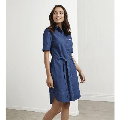 BS020L Delta Stonewashed Denim Business Dresses