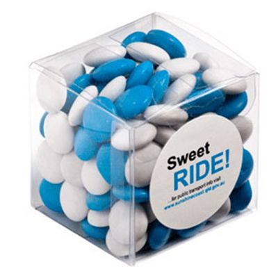 CC013F1 Smarties Look-Alike (Mixed Colours) Filled Soft Branded Cubes - 110g