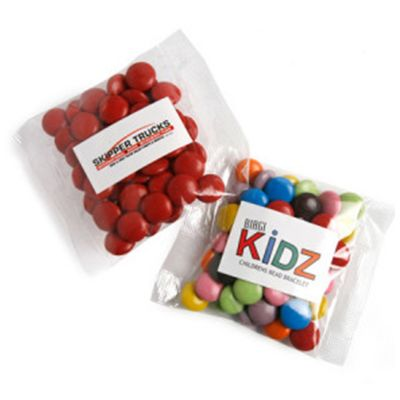 CC017B3 Smarties Look-Alike (Mixed Colours) Filled Promo Lolly Bags - 50g