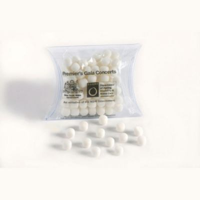 CC018F2 Chewy Mint Filled Pillow Pack Branded Lolly Bags - 25g