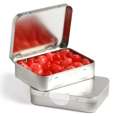 CC048A3 Jelly Bean (Mixed Or Corporate Colours) Filled Hinge Tins - 65g