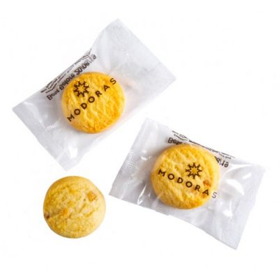 CC051L Custom Individually Wrapped Bite Size Biscuit - 5g Each