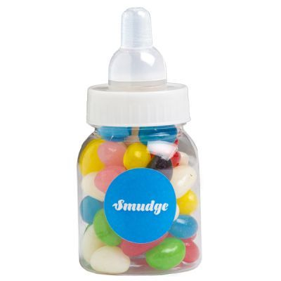 CC065A Jelly Bean Filled Branded Baby Bottles - 50g