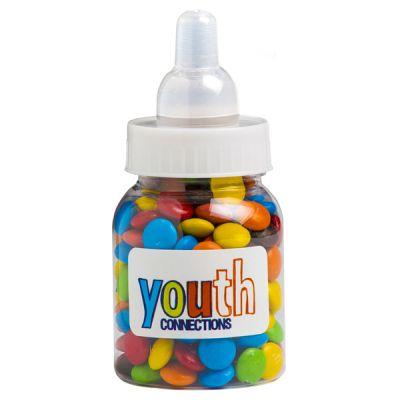 CC065D Mini M&M Filled Branded Baby Bottles - 45g
