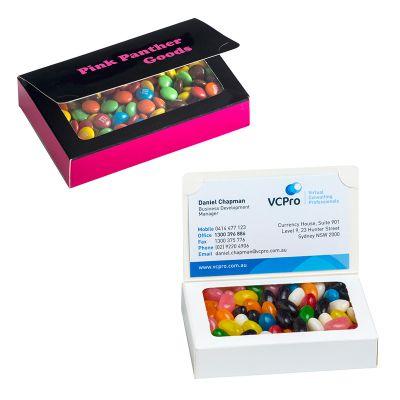 CC069DP Biz Card Box with M&M's + Full Custom Box Print - 50g