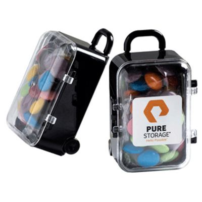 CC070C Smarties Look-Alike Filled Branded Mini Suitcases - 50g