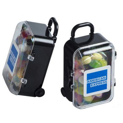 CC070G Jelly Belly Bean Filled Branded Mini Suitcases - 50g