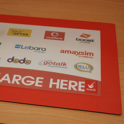 CIM1 Insert And Display Promotional Counter Mats With Rubber Sponge Base (Various Sizes)