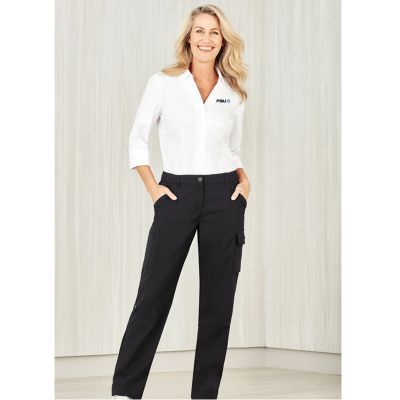 CL954LL Ladies Comfort Waist Cargo Pants With Stretch