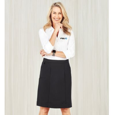 CL956LS Comfort Waist Cargo Skirts With Stretch