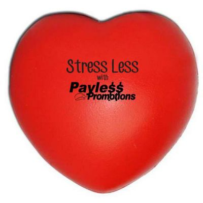 S37 Heart Red Printed Health Stress Balls