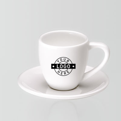 CR006 Espresso Printed Coffee Saucers