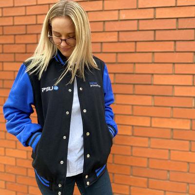 CSVJ1 Full-Custom Personalised Varsity Jackets With 2 Pockets And Metal Press Stud
