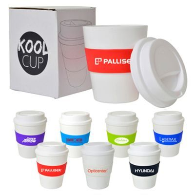 D327 355ml Plastic Kool Personalised Re-usable Coffee Cups
