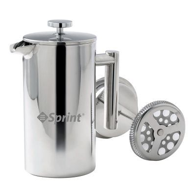 D780 Logo Stainless Steel Coffee Plunger - 1 Litre