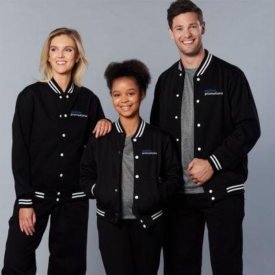 FL11 Unisex Cotton Rich Branded Varsity Jackets