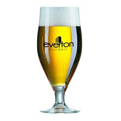 GLBF07132 380ML Cervoise Footed Logo Beer Glasses