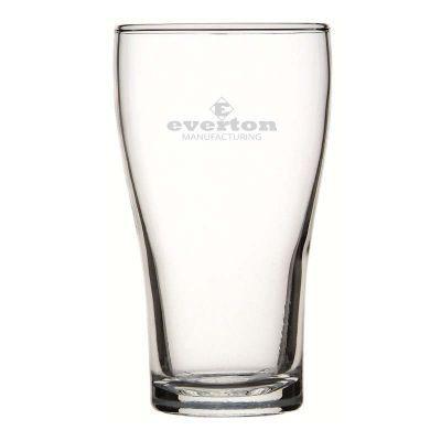 GLBG240007N 425ml Crowntuff Conical Nucleated Logo Beer Glasses