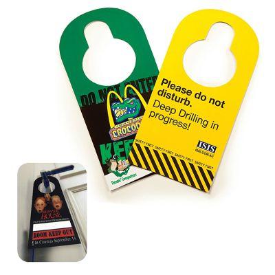 HCI107A Card Custom Door Hangers With Gloss Finish