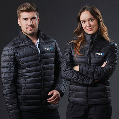 J806 Lightweight Puffer Embroidered Casual Jackets