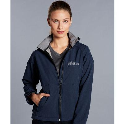 JK34 Ladies Aspen Custom Softshell Jackets With Detachable Hood