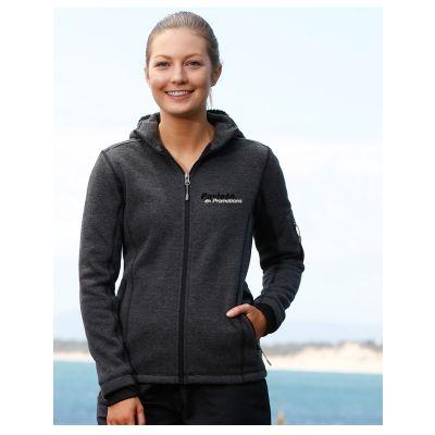 JK42 Ladies Acland Heather Fleece Jackets With Hood